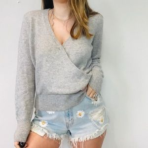 Madewell Surplice Sweater Wool Blend